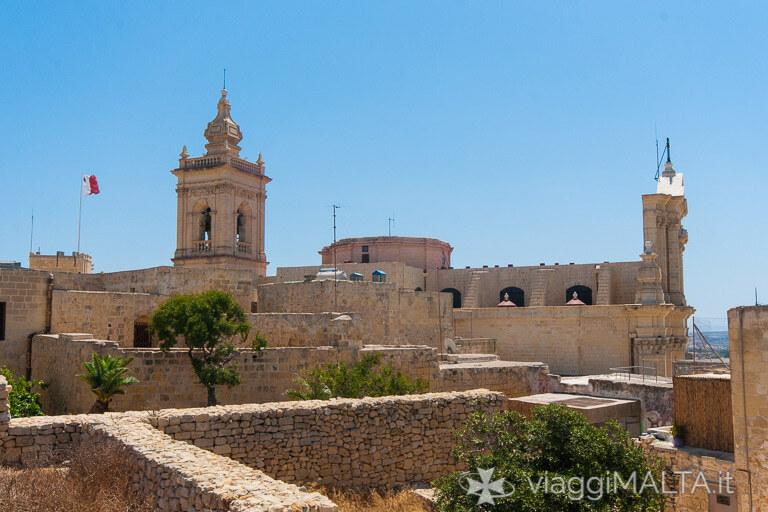 panorama visibile dalla terrazza del Museo delle Scienze Naturali di Gozo