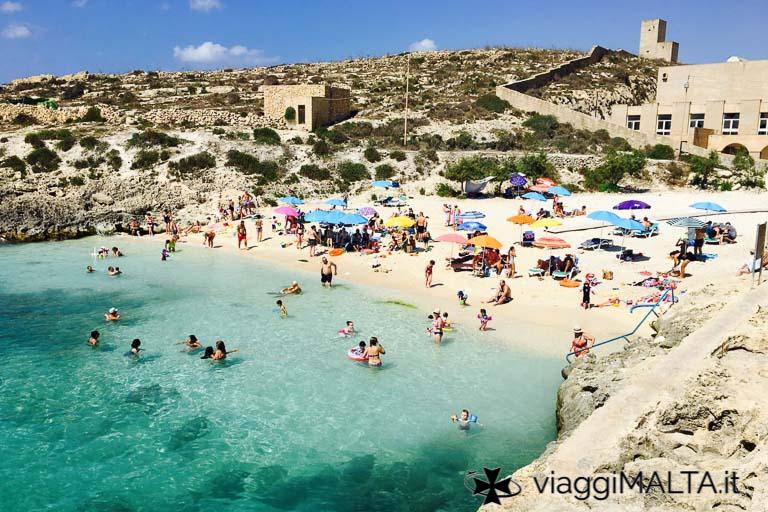Spiaggia di Hondoq a Gozo