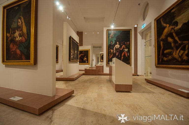 sezione dipinti barocchi MUZA