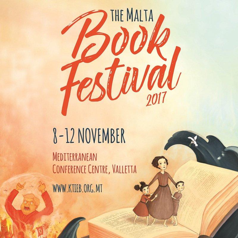 locandina del Malta Book Festival 2017
