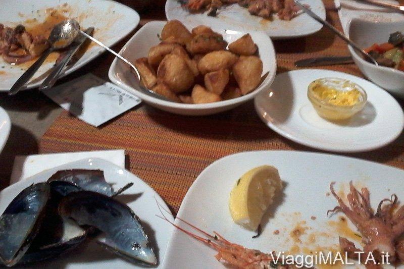 cena di pesce a Malta