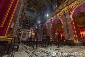 Navata centrale della Cattedrale di Mdina