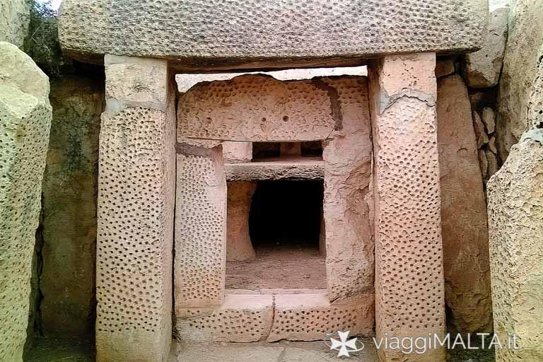 ingresso del tempio di Mnajdra
