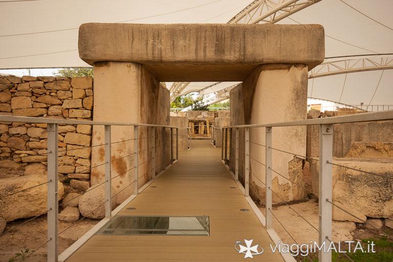 Tarxien - Accesso al tempio meridionale