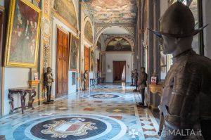 Corridoio principale del Palazzo del Gran Maestro a Valletta