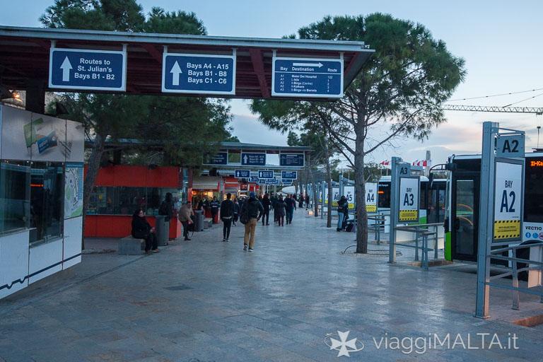 Stazione degli autobus di Valletta