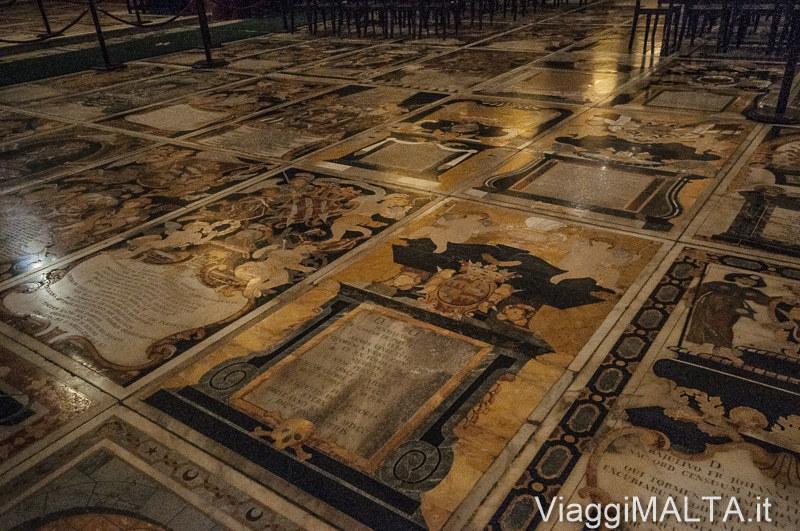 pavimento della Concattedrale di San Giovanni Battista a Valletta