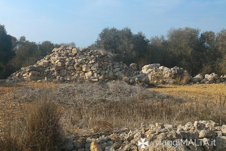 tempio punico sulla strada romana di Xemxija